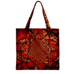Dreamcatcher Stained Glass Grocery Tote Bag by Amaryn4rt