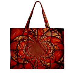 Dreamcatcher Stained Glass Zipper Mini Tote Bag by Amaryn4rt