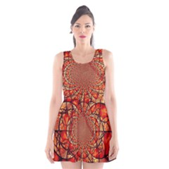 Dreamcatcher Stained Glass Scoop Neck Skater Dress