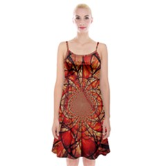 Dreamcatcher Stained Glass Spaghetti Strap Velvet Dress