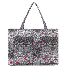 Sribble Plaid Medium Zipper Tote Bag