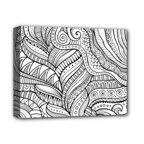 Zentangle Art Patterns Deluxe Canvas 14  X 11  by Amaryn4rt