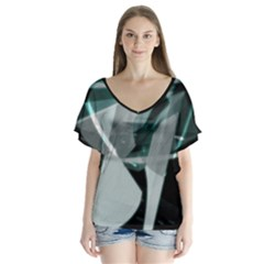 Fractured Light Flutter Sleeve Top