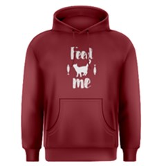 Red Feed Me Cat  Men s Pullover Hoodie by FunnySaying