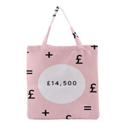 Added Less Equal With Pink White Grocery Tote Bag by Alisyart
