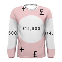 Added Less Equal With Pink White Men s Long Sleeve Tee