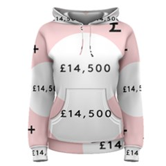 Added Less Equal With Pink White Women s Pullover Hoodie