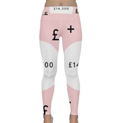 Added Less Equal With Pink White Classic Yoga Leggings by Alisyart