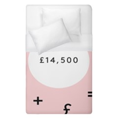 Added Less Equal With Pink White Duvet Cover (single Size)