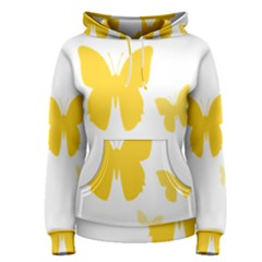 Yellow Butterfly Animals Fly Women s Pullover Hoodie