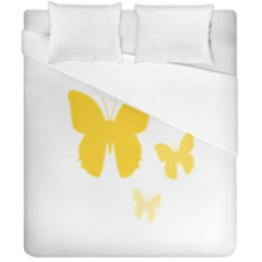 Yellow Butterfly Animals Fly Duvet Cover Double Side (california King Size) by Alisyart