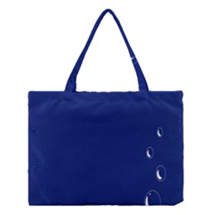 Bubbles Circle Blue Medium Tote Bag