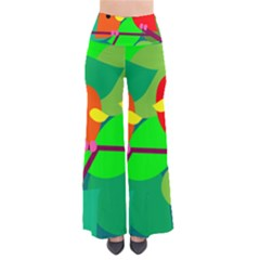 Animals Birds Red Orange Green Leaf Tree Pants by Alisyart