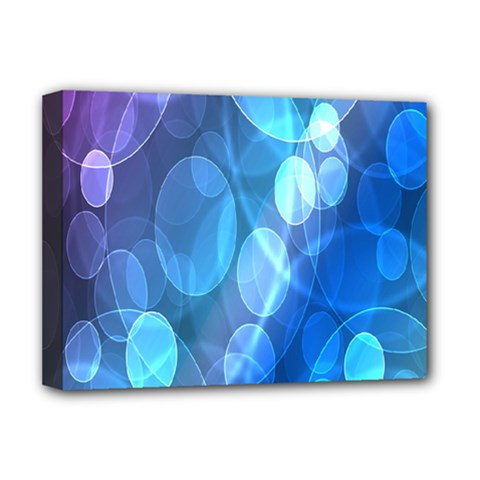 Circle Blue Purple Deluxe Canvas 16  X 12   by Alisyart