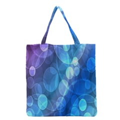 Circle Blue Purple Grocery Tote Bag