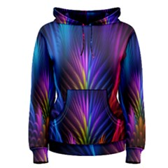 Bird Feathers Rainbow Color Pink Purple Blue Orange Gold Women s Pullover Hoodie