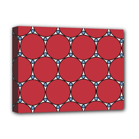 Circle Red Purple Deluxe Canvas 16  X 12   by Alisyart