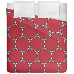 Circle Red Purple Duvet Cover Double Side (california King Size) by Alisyart