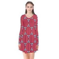 Circle Red Purple Flare Dress