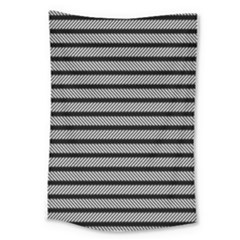 Black White Line Fabric Large Tapestry