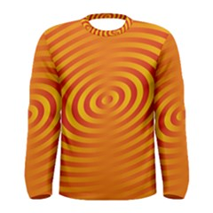 Circle Line Orange Hole Hypnotism Men s Long Sleeve Tee by Alisyart
