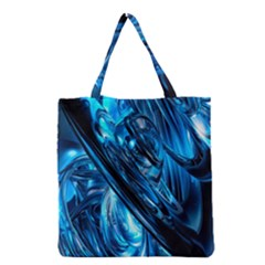 Blue Wave Grocery Tote Bag