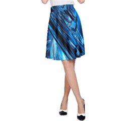 Blue Wave A Line Skirt