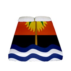 Coconut Tree Wave Water Sun Sea Orange Blue White Yellow Green Fitted Sheet (full/ Double Size)