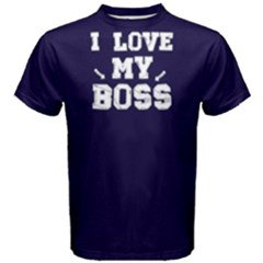 I Love My Boss   Men s Cotton Tee by FunnySaying
