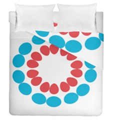 Egg Circles Blue Red White Duvet Cover Double Side (queen Size) by Alisyart