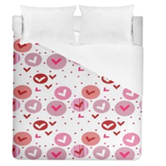 Crafts Chevron Cricle Pink Love Heart Valentine Duvet Cover (queen Size) by Alisyart