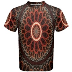 Circles Shapes Psychedelic Symmetry Men s Cotton Tee