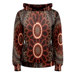 Circles Shapes Psychedelic Symmetry Women s Pullover Hoodie
