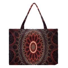 Circles Shapes Psychedelic Symmetry Medium Tote Bag
