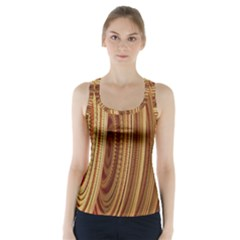 Circles Figure Light Gold Racer Back Sports Top