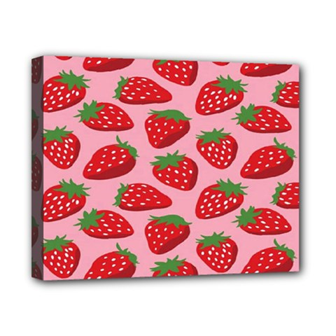 Fruitb Red Strawberries Canvas 10  X 8