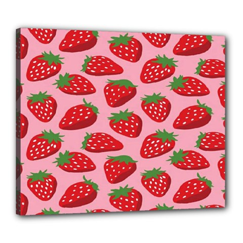 Fruitb Red Strawberries Canvas 24  X 20