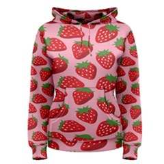 Fruitb Red Strawberries Women s Pullover Hoodie