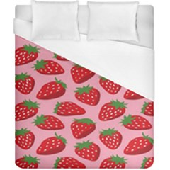 Fruitb Red Strawberries Duvet Cover (california King Size)