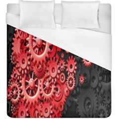 Gold Wheels Red Black Duvet Cover (king Size)