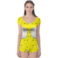 Glasses Yellow Boyleg Leotard