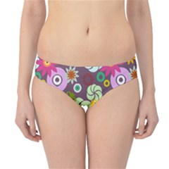 Floral Seamless Rose Sunflower Circle Red Pink Purple Yellow Hipster Bikini Bottoms