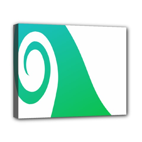 Line Green Wave Canvas 10  X 8  by Alisyart