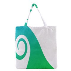 Line Green Wave Grocery Tote Bag