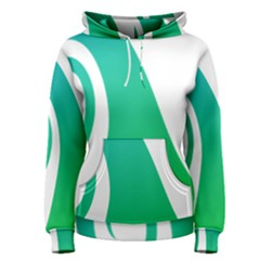 Line Green Wave Women s Pullover Hoodie