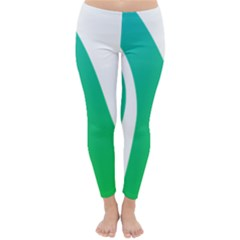 Line Green Wave Classic Winter Leggings