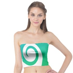 Line Green Wave Tube Top