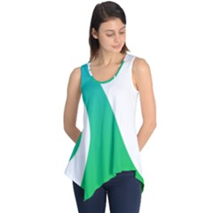 Line Green Wave Sleeveless Tunic