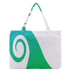 Line Green Wave Medium Tote Bag