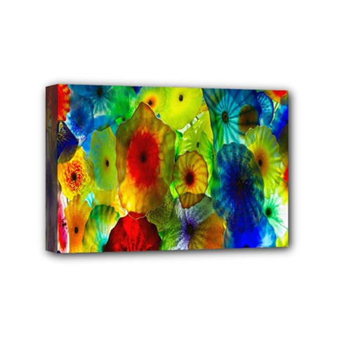 Green Jellyfish Yellow Pink Red Blue Rainbow Sea Mini Canvas 6  X 4  by Alisyart